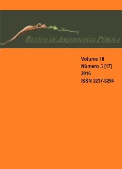 Visualizar v. 10 n. 3[17] (2016): Arqueologia e Patrimônio Cultural - parte 2