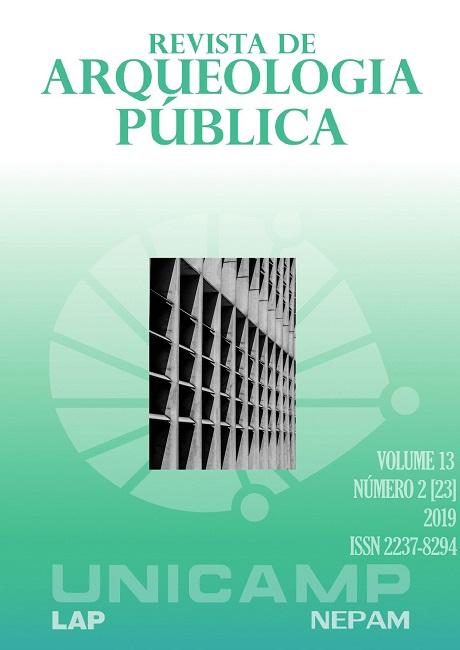 Visualizar v. 13 n. 2 (2019): [23]Dossiê: Formação e atuação inter e multidisciplinar na gestão, valorização e proteção do patrimônio arqueológico