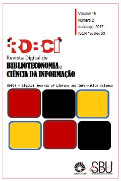 """Visualizar v. 15 n. 2 (2017): maio/ago.: """"Profissional da informação, bibliotecas universitárias e a produção da informação no contexto atual"""""""