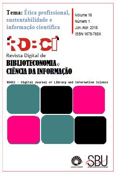 Visualizar v. 16 n. 1 (2018): jan./abr.: Ética profissional, sustentabilidade e informação científica