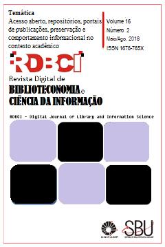 Visualizar v. 16 n. 2 (2018): maio/ago.: Acesso aberto, repositórios, portais  de publicações, preservação e comportamento informacional no contexto acadêmico