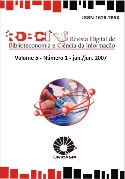 Visualizar v. 5 n. 1 (2007): jan./jun.