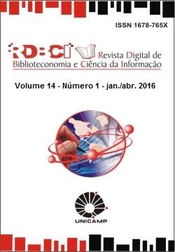 Visualizar v. 14 n. 1 (2016): Evolução dos ambientes, processos informacionais e a atuação do profissional bibliotecário