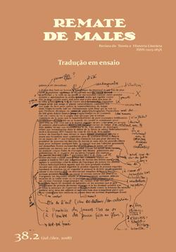 Visualizar v. 38 n. 2 (2018): Dossiê: Tradução em ensaio