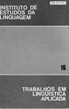 Visualizar v. 16 (1990): Anais do 2º Congresso Brasileiro de Lingüística Aplicada