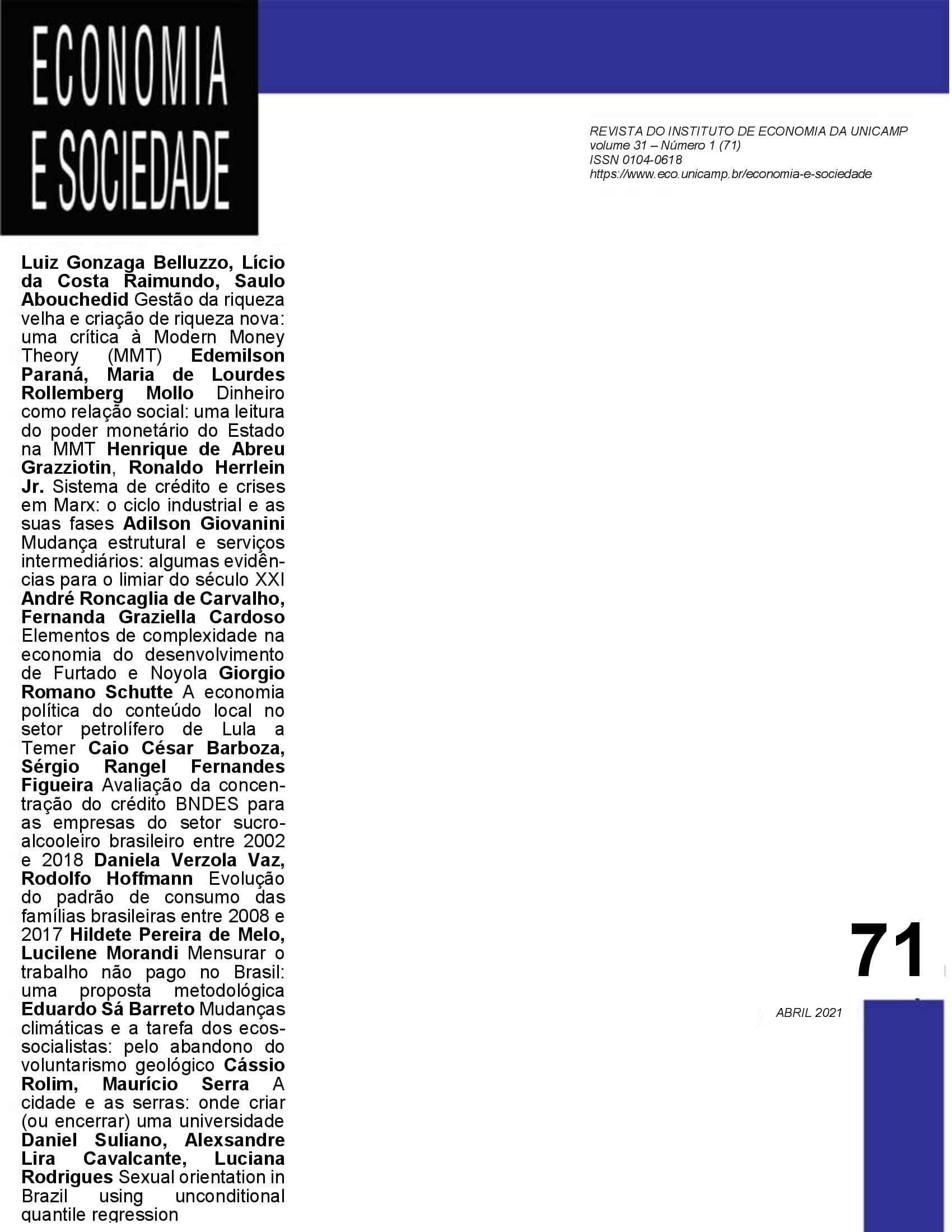 Visualizar v. 30 n. 1 (2021): jan./abr. [71]
