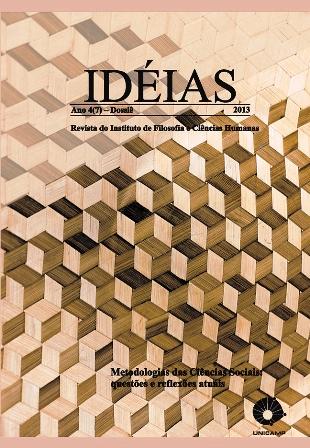 Visualizar v. 4 (2013): Especial - Metodologia das Ciências Sociais: questões e reflexões atuais