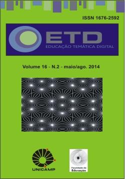 Visualizar v. 16 n. 2 (2014): Olhares da educação e tecnologia no processo transformativo do ensino-aprendizagem