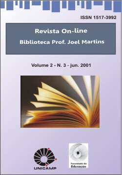 Visualizar v. 2 n. 3 (2001): Anteriormente: Revista On-line da Biblioteca Prof. Joel Martins