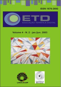 Visualizar v. 4 n. 2 (2003): Número Temático: História da Educação, Tecnologia e Comunicação e Filosofia da Educação
