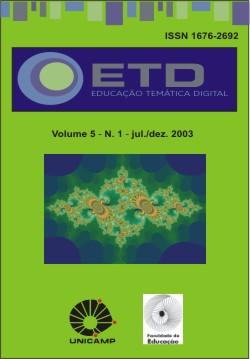 Visualizar v. 5 n. 1 (2003): Número Temático: Educação, Filosofia e Tecnologia digital