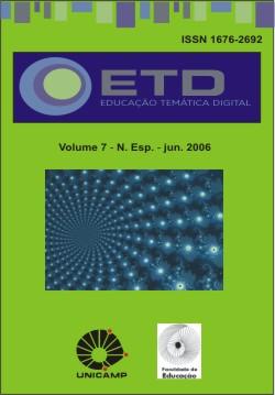 Visualizar v. 7 (2006): Número Especial: Interdisciplinaridade, Escola e Professores