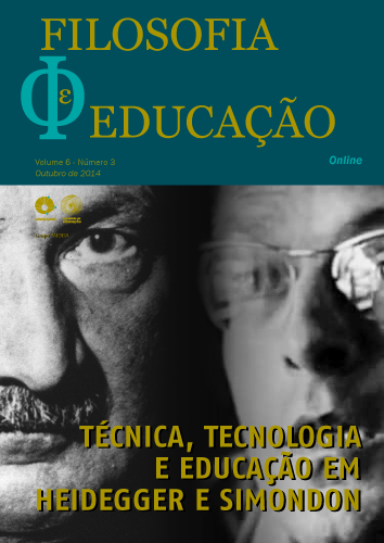 Visualizar v. 6 n. 3 (2014): Técnica, tecnologia e educação em Heidegger e Simondon