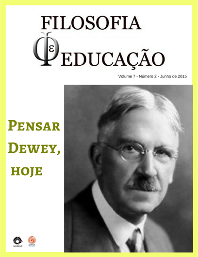 Visualizar v. 7 n. 2 (2015): Pensar Dewey, hoje