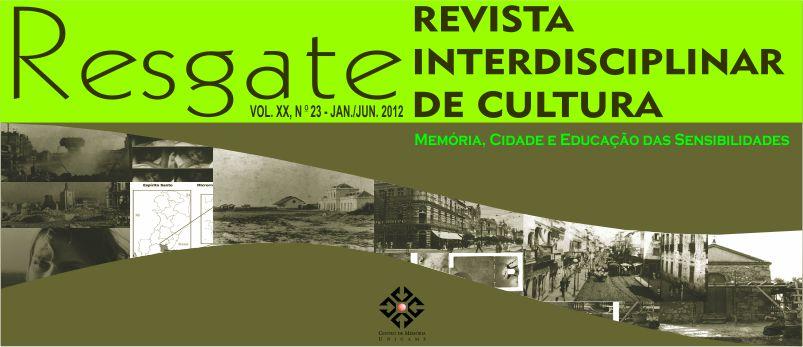 Visualizar v. 20 n. 1 (2012): jan./jun. [23]: Memória, Cidade e Educação das Sensibilidades