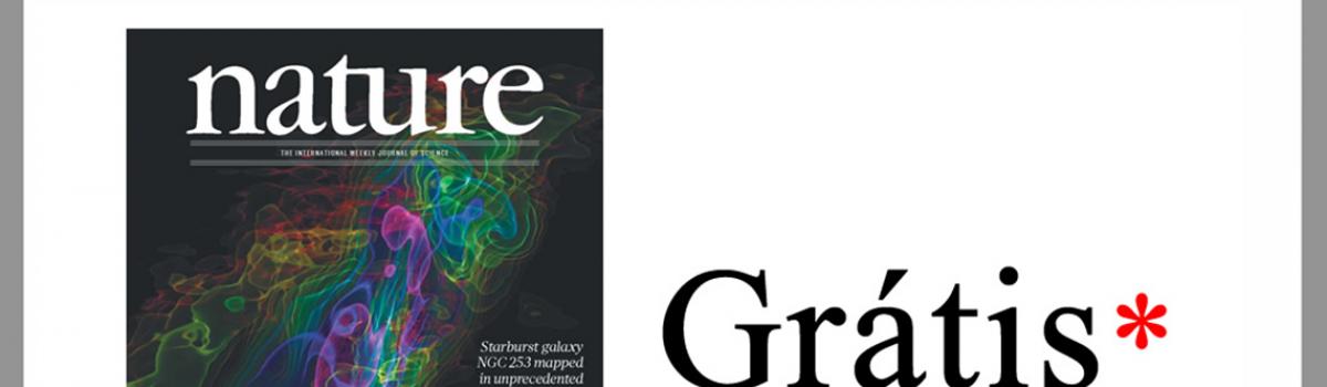 Nature abre todos os seus artigos para visualização gratuita