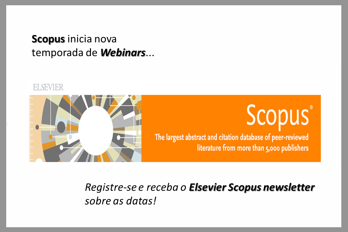 Scopus inicia nova temporada de Webinars…